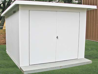 Golf cart park n store shed for Golf cart garage door prices